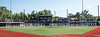 Coaches, players and spectators stand for the National Anthem before the New York Collegiate Baseball League (NYCBL)/Atlantic Collegiate Baseball League (ACBL) All-Star Game at the Onondaga Community College Turf Field on Monday, July 9, 2018.