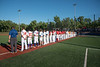 NYCBL team standing for the National Anthem before the New York Collegiate Baseball League (NYCBL)/Atlantic Collegiate Baseball League (ACBL) All-Star Game at the Onondaga Community College Turf Field on Monday, July 9, 2018.