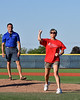 Walk to Defeat ALS Representative threw out the First Pitch before the New York Collegiate Baseball League (NYCBL)/Atlantic Collegiate Baseball League (ACBL) All-Star Game at the Onondaga Community College Turf Field on Monday, July 9, 2018.
