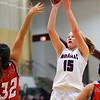 Winamac's Laini Joseph put up a couple of 3 pointers during girls basketball between Winamac HS and Cass HS on Nov. 10, 2018. <br /> Tim Bath | Pharos Tribune