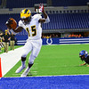 Addai Lewellen dances over the goal line to start the scoring as Pioneer beats North Vermillion in the Class A State Finals 60-0 on Nov. 24, 2018 at Lucas Oil Stadium.<br /> Tim Bath | Kokomo Tribune