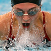 Logansport's Mia Loposser swimming the breast in the 200 yard medley relay during the Northwestern at Logansport swim meet on Nov. 28, 2018, in Logansport, Indiana. <br /> Tim Bath | Kokomo Tribune