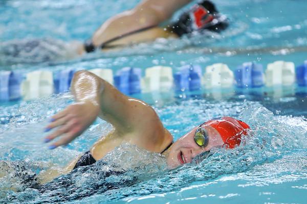 Kokomo's Madison Cleaver swimming the 200 free during the swim meet between KHS and WHS girls on Nov. 13, 2018.  Tim Bath   Kokomo Tribune