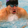 Northwestern's Jacob Myers swimming the breaststroke in the 200 yard medley relay during the Northwestern at Logansport swim meet on Nov. 28, 2018, in Logansport, Indiana. <br /> Tim Bath | Kokomo Tribune