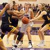 11-10-18<br /> Northwestern vs Carmel girls basketball<br /> Madison Layden is fouled as she goes to the basket.<br /> Kelly Lafferty Gerber | Kokomo Tribune