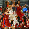 11-7-18<br /> Taylor vs Kokomo girls basketball<br /> Taylor's Alison Pemberton puts up a shot.<br /> Kelly Lafferty Gerber | Kokomo Tribune