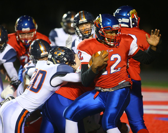 11-2-18<br /> Kokomo vs Harrison sectional championship<br /> Jeremy Baker makes a touchdown for the Kats.<br /> Kelly Lafferty Gerber | Kokomo Tribune