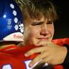 11-2-18<br /> Kokomo vs Harrison sectional championship<br /> Levi Hrabos gets emotional as he hugs teammates after the game.<br /> Kelly Lafferty Gerber | Kokomo Tribune