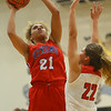 11-7-18<br /> Taylor vs Kokomo girls basketball<br /> Kokomo's Adria Hartley shoots.<br /> Kelly Lafferty Gerber | Kokomo Tribune