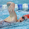 Kokomo's Macee Reckard swimming the 200 free during the swim meet between KHS and WHS girls on Nov. 13, 2018. <br /> Tim Bath | Kokomo Tribune