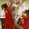11-7-18<br /> Taylor vs Kokomo girls basketball<br /> Taylor's Taylor Boruff puts up a shot.<br /> Kelly Lafferty Gerber | Kokomo Tribune
