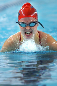 Kokomo's Haley Salinas swimming in the medley relay during the swim meet between KHS and WHS girls on Nov. 13, 2018.  Tim Bath   Kokomo Tribune