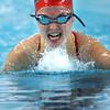 Kokomo's Haley Salinas swimming in the medley relay during the swim meet between KHS and WHS girls on Nov. 13, 2018. <br /> Tim Bath | Kokomo Tribune