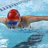 Kokomo's Emily Griggs swimming in the medley relay during the swim meet between KHS and WHS girls on Nov. 13, 2018. <br /> Tim Bath | Kokomo Tribune