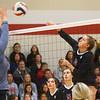 11-17-18<br /> IUK vs Saint Xavier volleyball<br /> Erinn Adam goes for the kill.<br /> Kelly Lafferty Gerber | Kokomo Tribune