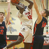 11-27-18<br /> Taylor vs Lewis Cass boys basketball<br /> Taylor's Tyler Hall shoots.<br /> Kelly Lafferty Gerber | Kokomo Tribune