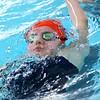 Kokomo's Madison Cleaver swimming the 200 free during the swim meet between KHS and WHS girls on Nov. 13, 2018. <br /> Tim Bath | Kokomo Tribune