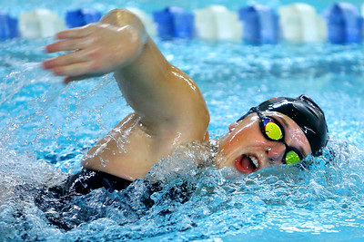 Western's Delaney Lupoi swimming the 200 free during the swim meet between KHS and WHS girls on Nov. 13, 2018.  Tim Bath   Kokomo Tribune