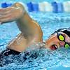Western's Delaney Lupoi swimming the 200 free during the swim meet between KHS and WHS girls on Nov. 13, 2018. <br /> Tim Bath | Kokomo Tribune