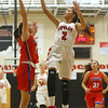 11-7-18<br /> Taylor vs Kokomo girls basketball<br /> Taylor's Alison Pemberton puts up a shot.<br /> Kelly Lafferty Gerber | Kokomo Tribune