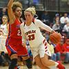 11-7-18<br /> Taylor vs Kokomo girls basketball<br /> Taylor's Taylor Boruff makes a drive to the basket.<br /> Kelly Lafferty Gerber | Kokomo Tribune