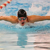 Logansport's Trista Russow swimming the fly in the 200 yard medley relay during the Northwestern at Logansport swim meet on Nov. 28, 2018, in Logansport, Indiana. <br /> Tim Bath | Kokomo Tribune