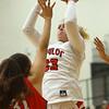 11-7-18<br /> Taylor vs Kokomo girls basketball<br /> Taylor's Taylor Boruff shoots.<br /> Kelly Lafferty Gerber | Kokomo Tribune