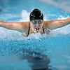 Western's Emma Shoemaker swimming in the medley relay during the swim meet between KHS and WHS girls on Nov. 13, 2018. <br /> Tim Bath | Kokomo Tribune