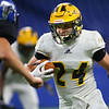 Danny Gregorich runs the ball for Pioneer as they beat North Vermillion in the Class A State Finals 60-0 on Nov. 24, 2018 at Lucas Oil Stadium.<br /> Tim Bath | Kokomo Tribune