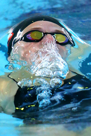 Western's Delaney Lupoi swimming in the medley relay during the swim meet between KHS and WHS girls on Nov. 13, 2018. <br /> Tim Bath | Kokomo Tribune
