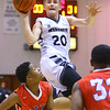 11-20-18<br /> Kokomo vs Western boys basketball<br /> Western's Kyle Sander shoots.<br /> Kelly Lafferty Gerber | Kokomo Tribune