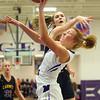 11-10-18<br /> Northwestern vs Carmel girls basketball<br /> Klair Merrell is fouled as she goes up for a shot.<br /> Kelly Lafferty Gerber | Kokomo Tribune