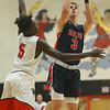 11-27-18<br /> Taylor vs Lewis Cass boys basketball<br /> LC's Easton Good shoots.<br /> Kelly Lafferty Gerber | Kokomo Tribune
