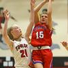 11-7-18<br /> Taylor vs Kokomo girls basketball<br /> Kokomo's Chloe McClain shoots.<br /> Kelly Lafferty Gerber | Kokomo Tribune