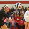 11-17-18<br /> IUK vs Saint Xavier volleyball<br /> McKenna Lundy makes a dig.<br /> Kelly Lafferty Gerber | Kokomo Tribune