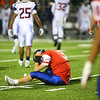 11-2-18<br /> Kokomo vs Harrison sectional championship<br /> Levi Hrabos sits on the field after a bad snap led him to get sacked during an extra point attempt.<br /> Kelly Lafferty Gerber | Kokomo Tribune