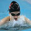 Western's Jenaka Hawkins swimming in the medley relay during the swim meet between KHS and WHS girls on Nov. 13, 2018. <br /> Tim Bath | Kokomo Tribune