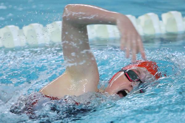 Kokomo's Macee Reckard swimming the 200 free during the swim meet between KHS and WHS girls on Nov. 13, 2018.  Tim Bath   Kokomo Tribune