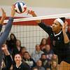 11-17-18<br /> IUK vs Saint Xavier volleyball<br /> Nyssa Baker goes for the kill.<br /> Kelly Lafferty Gerber | Kokomo Tribune