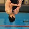 Ashtin Ziebell diving for Northwestern at Logansport swim meet on Nov. 28, 2018, in Logansport, Indiana. <br /> Tim Bath | Kokomo Tribune