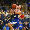 11-21-18<br /> Tri Central vs Tipton<br /> Tipton's Carson Dolezal heads to the basket.<br /> Kelly Lafferty Gerber | Kokomo Tribune