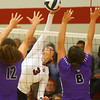 10-30-18<br /> IUK volleyball<br /> McKenna Lundy goes for a kill.<br /> Kelly Lafferty Gerber | Kokomo Tribune