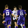 Western HS boys soccer team defeated Northwestern's 2-1 during the sectional final on Oct. 6, 2018. Max Harbaugh sends the first goal in, to tie the game.<br /> Tim Bath | Kokomo Tribune