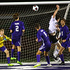 Western HS boys soccer team defeated Northwestern's 2-1 during the sectional final on Oct. 6, 2018. Max Harbaugh sends the second goal in to bring Western's into the lead.<br /> Tim Bath | Kokomo Tribune