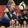10-20-18<br /> Tipton vs Clinton Prairie regional volleyball semi-final<br /> Rachael Ressler digs the ball.<br /> Kelly Lafferty Gerber | Kokomo Tribune