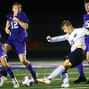 Western HS boys soccer team defeated Northwestern's 2-1 during the sectional final on Oct. 6, 2018. Western's Charles Padgett sending the ball down the field.<br /> Tim Bath | Kokomo Tribune
