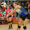 10-20-18<br /> Tipton vs Clinton Prairie regional volleyball semi-final<br /> Kelsey Mitchell returns a serve.<br /> Kelly Lafferty Gerber | Kokomo Tribune