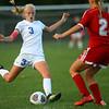 10-4-18<br /> Kokomo vs Logansport girls soccer<br /> Kokomo's Maya James<br /> Kelly Lafferty Gerber | Kokomo Tribune