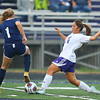 10-2-18<br /> Northwestern vs Lafayette Central Catholic girls soccer sectional<br /> NW's Sarah Smith slides and kicks.<br /> Kelly Lafferty Gerber | Kokomo Tribune