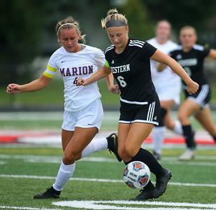 10-6-18 Western vs Marion girls soccer sectional championship  Kelly Lafferty Gerber | Kokomo Tribune